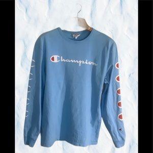 Champion long sleeve T shirt size large